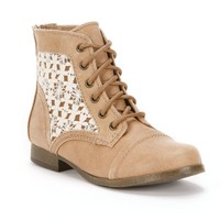 Candie's Lace-Up Ankle Boots - Girls