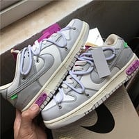 """OW x Dunk Low""""21 of 50"""" OW DM1602-100 36-46"""