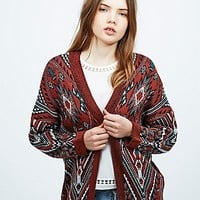 Staring at Stars Moroccan Diamond Cardigan in Orange - Urban Outfitters
