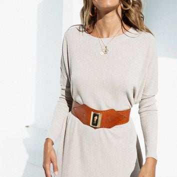 Ribbed Lucy Tee Dress - Dresses by Sabo Skirt
