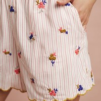 Bouquet Embroidered Sleep Shorts