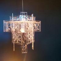 Recycled acrylic - laser cut - light shade / chandelier