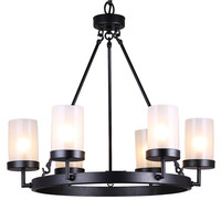 Eliana 6-light Black Linear Glass Globe Chandelier