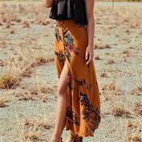 Vacation Dress Summer Bohemia Print Ruffle Skirt [11462530959]