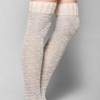 Marled Crochet Ruffle Over-The-Knee Sock - Urban Outfitters