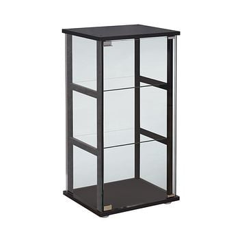 G950179 - 3-Shelf Glass Curio Cabinet - Black And Clear