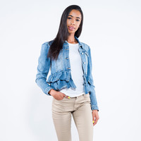 Miss YCMC Ruffle Denim Jacket