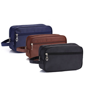 Hot Deal Hot Sale Beauty On Sale Waterproof Double-layered Toiletry Kits Big Capacity Ladies Bags Travel Storage Make-up Bag [8116028679]