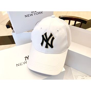 NY street fashion embroidery letters for men and women baseball caps white