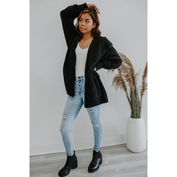 Cozy Nights Cardigan - Black
