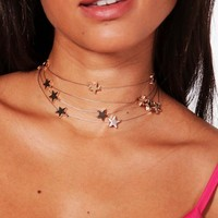Georgia Floating Stars Choker | Boohoo