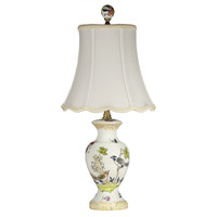 Small Traditional Birds Porcelain Lamp