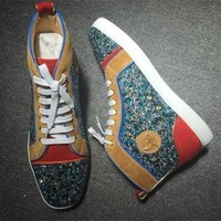 DCCK2 Cl Christian Louboutin Rhinestone Style #1944 Sneakers Fashion Shoes