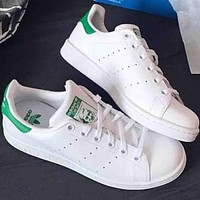 Adidas stan smith tide fashion men and women trend sports shoes F Green