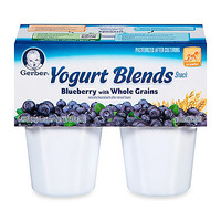Gerber® Yogurt Blends 4-Pack Blueberry With Whole Grains 3.5 oz.