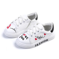 Toddler Girl Shoes Lace Up Sneakers Kids Casual Shoes