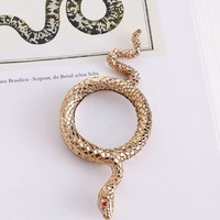 Snake Small Gold-Plated Magnifying Glass - L'Objet