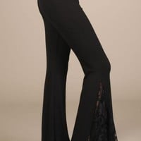 Bell Bottom Lace Insets Pants