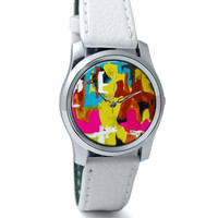 The Abstract Oil Painted Wrist Watch