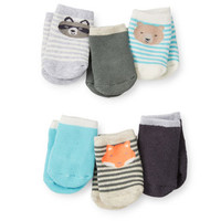 6-Pack Terry Animal Booties