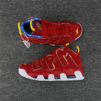 """Nike Air More Uptempo """"BPM"""" Red Suede Size 40----47"""
