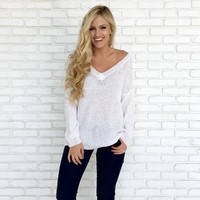 Peaches & Cream Knit Sweater in Ivory