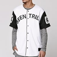 Been Trill Mesh Baseball Jersey - Mens Tee - White