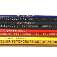 Hogwarts House Pencil Pack by MidnightHouseElves on Etsy