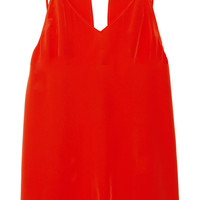 Sandro Escorte cutout silk top – 60% at THE OUTNET.COM