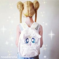 Sailor Moon White Kitten Artemis Upgrade Backpack Free Ship SP140506 from SpreePicky