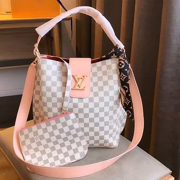LV Classic Checkerboard Women's Shopping Bag Mother Two-Piece Set