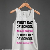 First Day and Second Day-Unisex White Tank