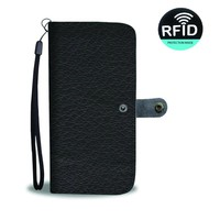 Black Leather Cell Phone Wallet Case
