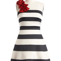 ModCloth Mid-length One Shoulder A-line When You Can Dance Dress