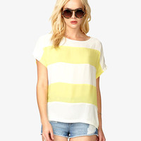 Oversized Stripe Dolman Top