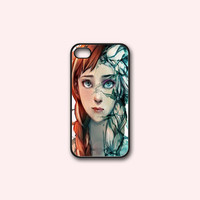 Disney Frozen Princess Elsa And Anna Face - Print on hard cover for iPhone case and Samsung Galaxy case