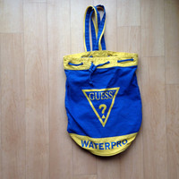 Vintage Guess Water Pro Beach Bag / Backpack