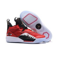 Air Jordan 33 Red White Black Men Basketball Shoes - Best Deal Online