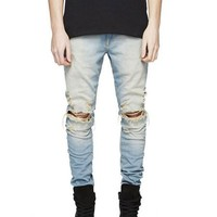 Faded Ripped Distressed Jeans