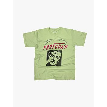 """Lives in Fear"" Graphic Tee in Light Green"
