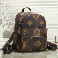 LV Louis Vuitton new retro large-capacity backpack school bag Daypack