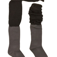 Two Tone Over The Knee Socks