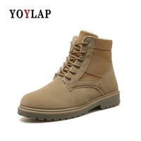 2018 Warm winter plus cotton Doc Dr Martins Shoes male High Top casual Motorcycle Dr. Martens Boots  lace up ankle army boots