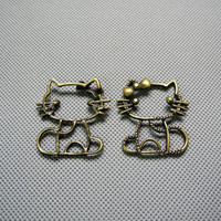 2x Making Jewellery Supply Pendant Alloys schmuckset Jewelry Findings Charms Schmuckteile Charme 4-A1428 hello kitty