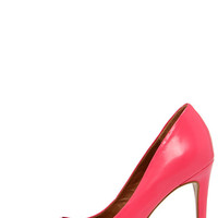 Steve Madden Proto Pink Leather Pointed Pumps