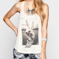 Volcom Peace Back Womens Tank Cream  In Sizes
