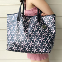 Kate Spade New York Broome Pinwheel Court Tanner Tote Bag Rich Navy
