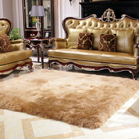 Pure wool carpet rug bed blankets sheepskin carpet fur one piece sofa cushion blanket Wool mat Tea table mat Doormat living room