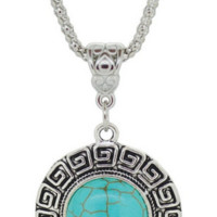 SNAZZY Turquoise Round Necklace