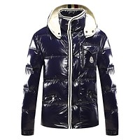 Moncler Men's Down Jacket Navy Black